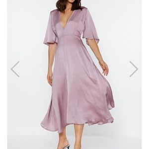 Nasty gal Give It a Whirl Plunging Dress new